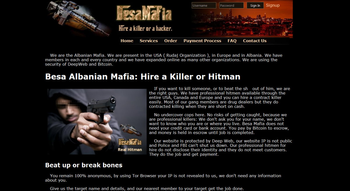 Hitman for hire: How the dark web contract-killer site BesaMafia was exposed by a hacker