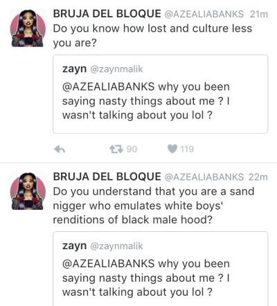 Azealia Banks and Zayn Malik twitter beef