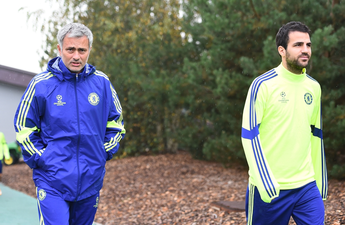 Jose Mourinho and Cesc Fabregas