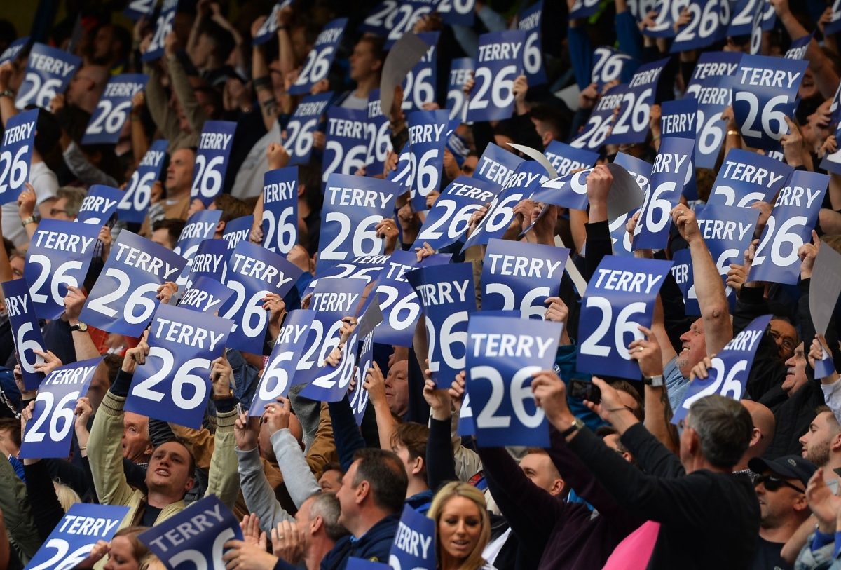 John Terry placards