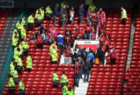 Old Trafford evacuation