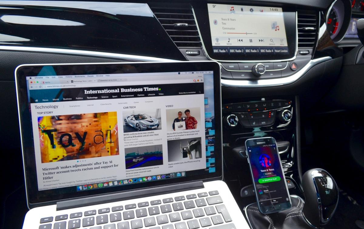 Wifi hotspot Vauxhall Astra OnStar