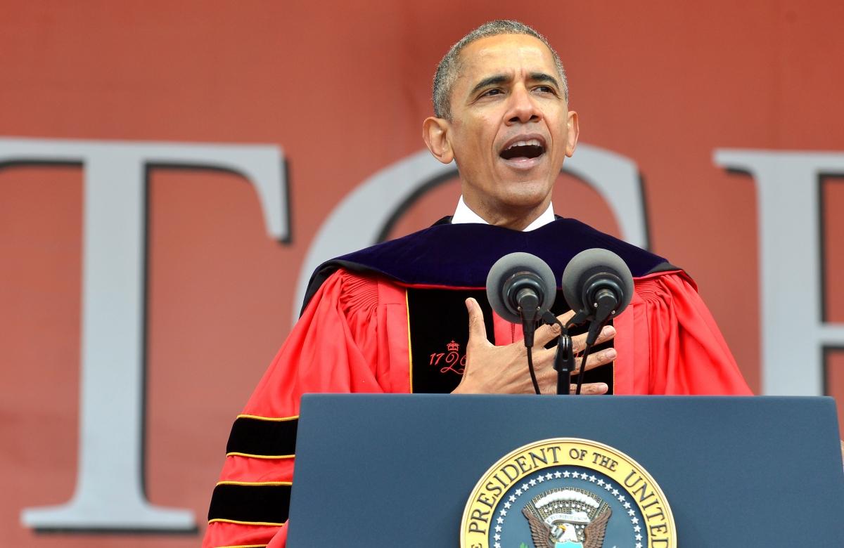 Barack Obama Rutgers University speech