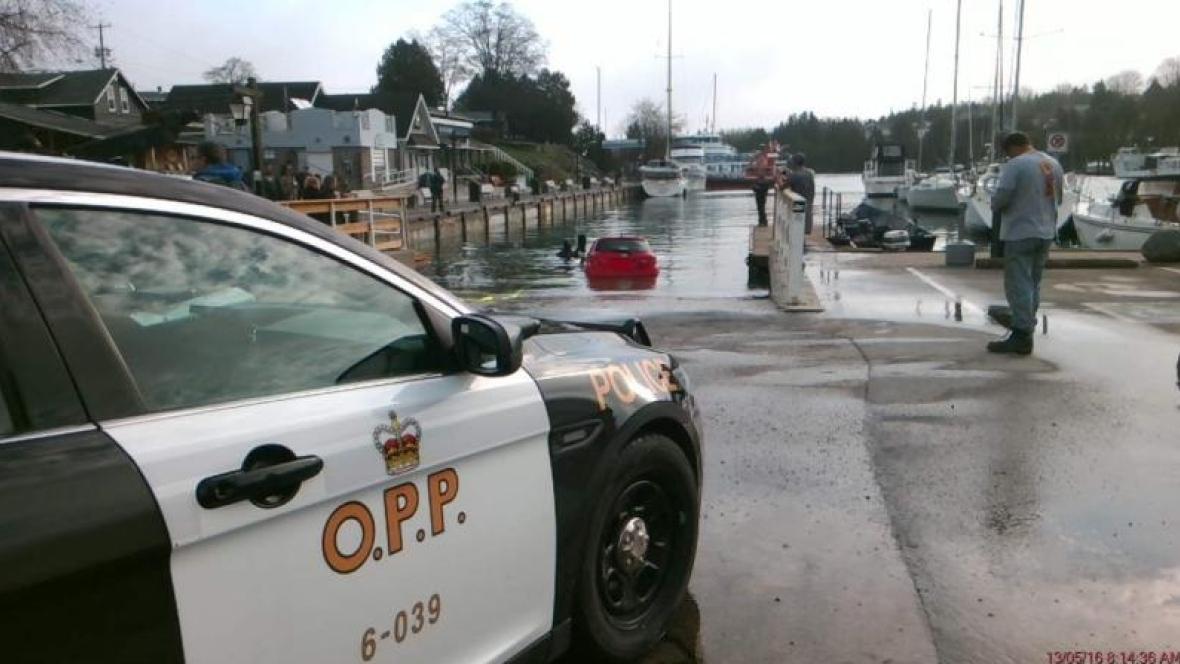 Woman drives car into Ontario lake