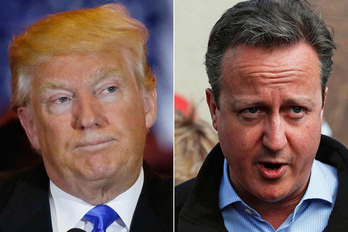 Donald Trump, David Cameron