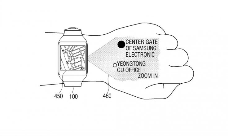Samsung patent showing navigation