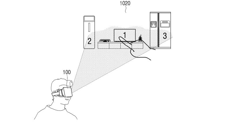 Samsung patent showing use in VR/AR
