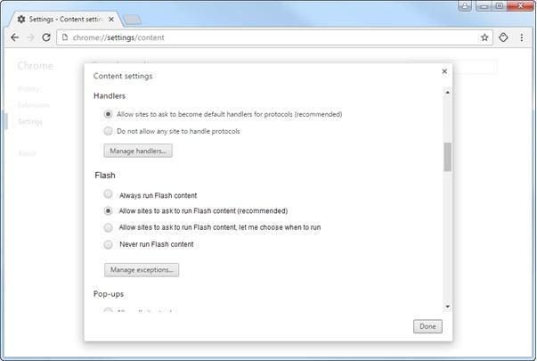 Chrome Flash support for enterprises