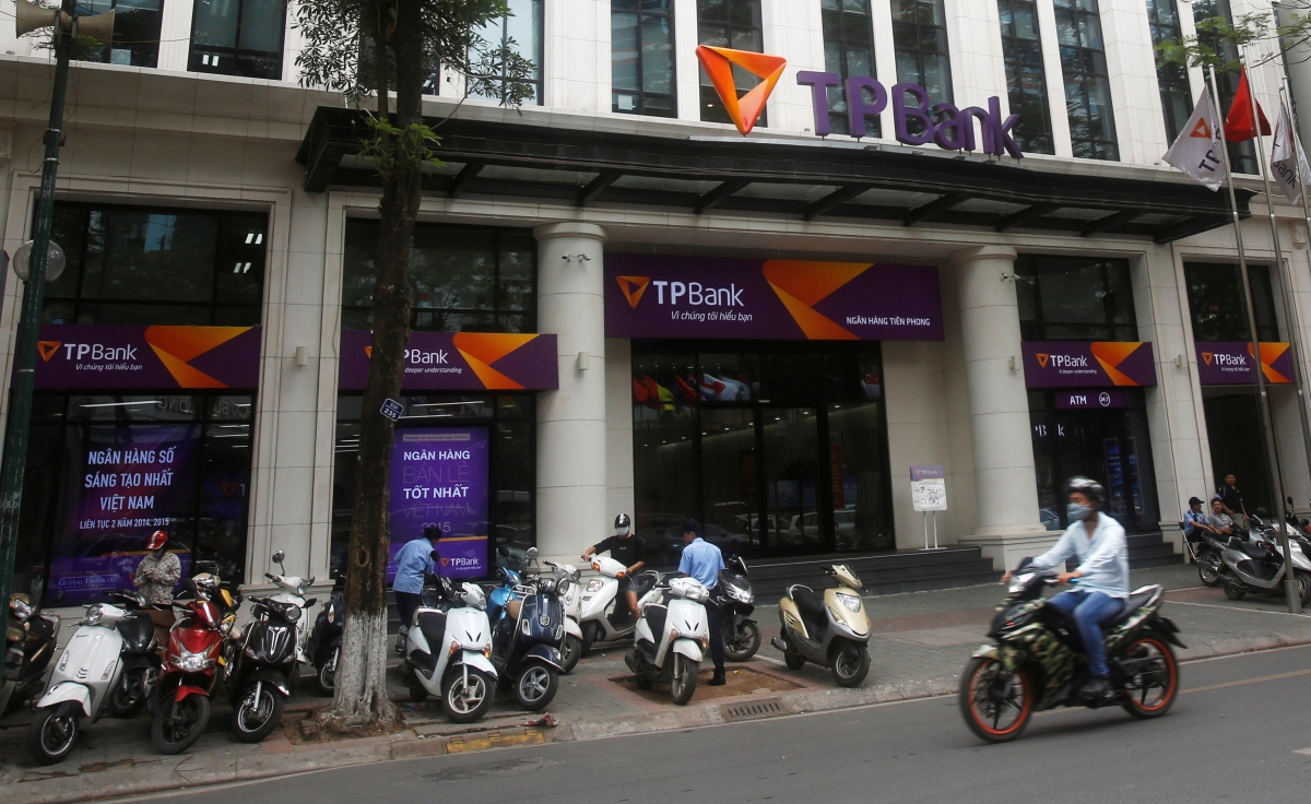 Vietnamese commercial Tien Phong bank in Hanoi