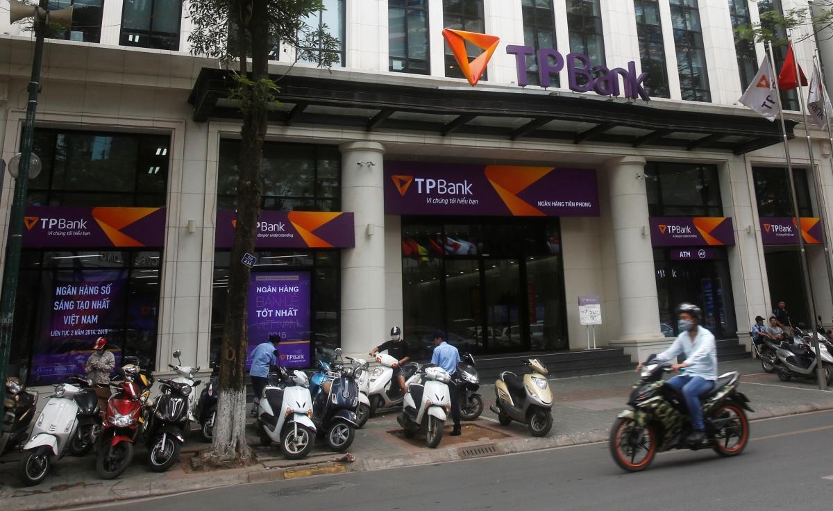 Vietnamese commercial Tien Phong bank in Hanoi