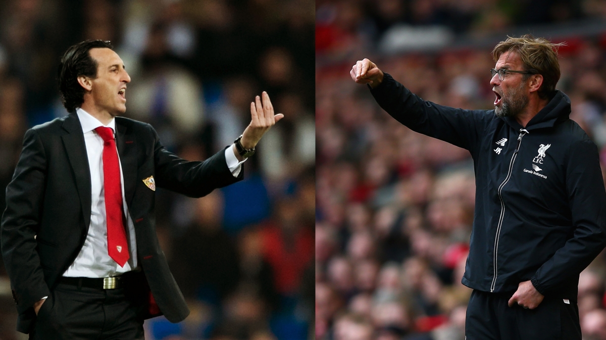 Unai Emery and Jurgen Klopp