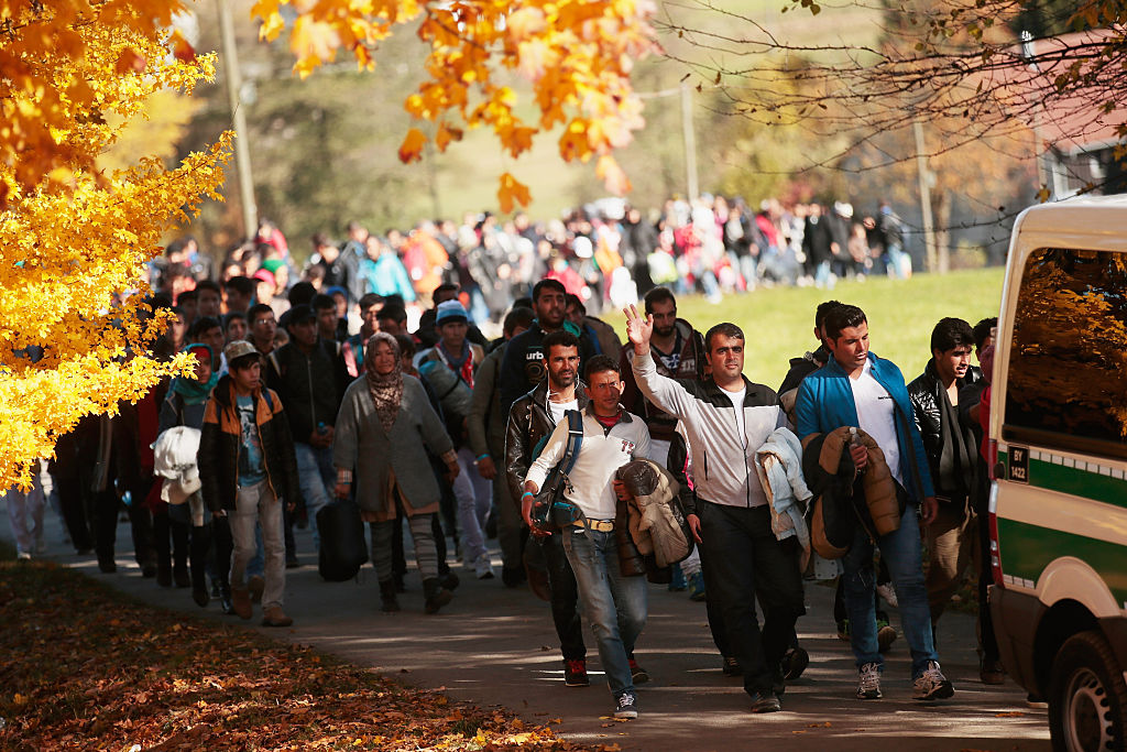 refugees enter bavaria