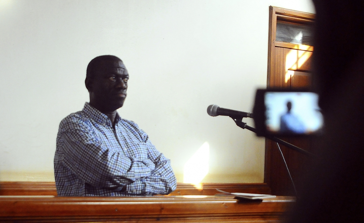 Kizza Besigye in court in Kampala