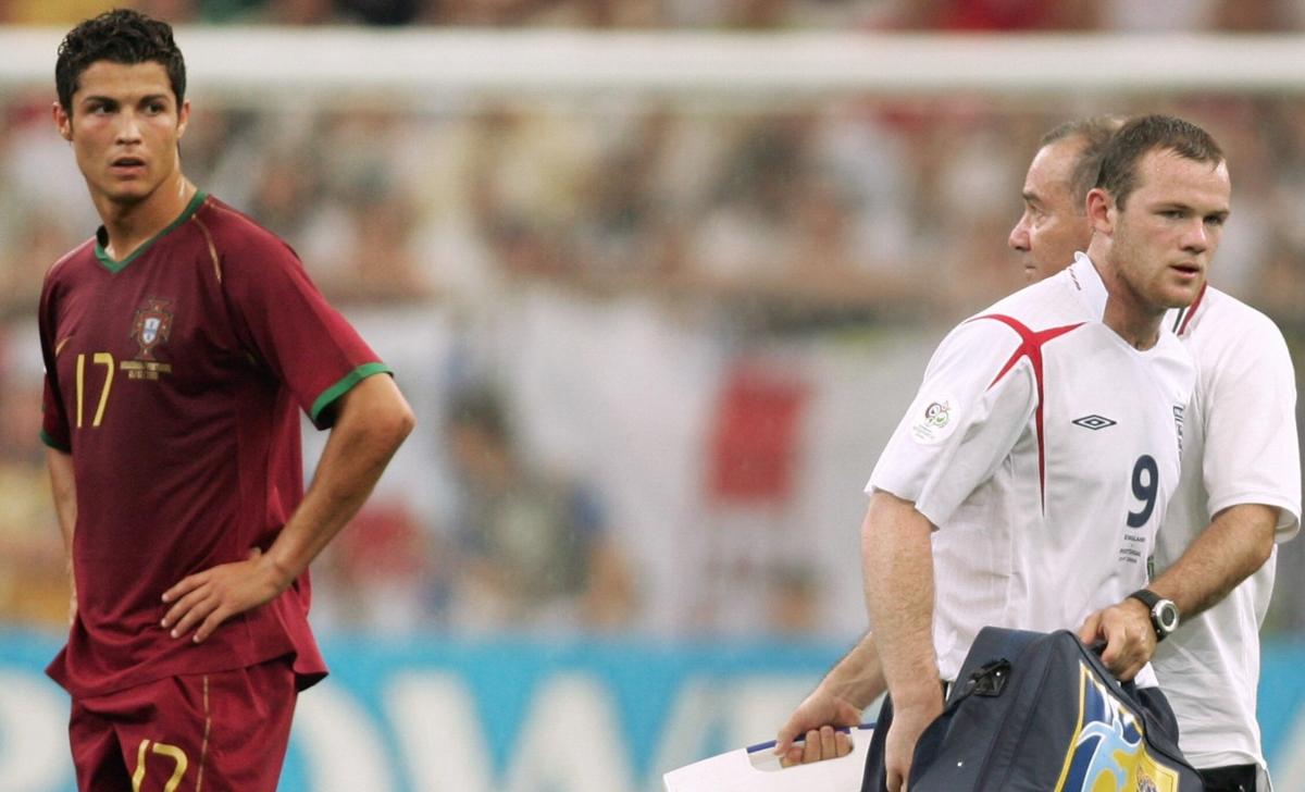 Cristiano Ronaldo and Wayne Rooney