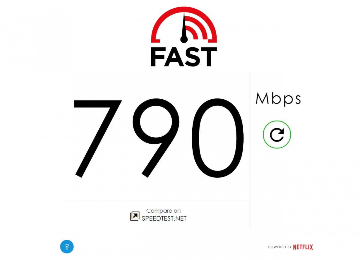 Netflix internet speed test