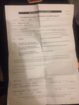 Conditional bail document for Immanuel Yaghozie
