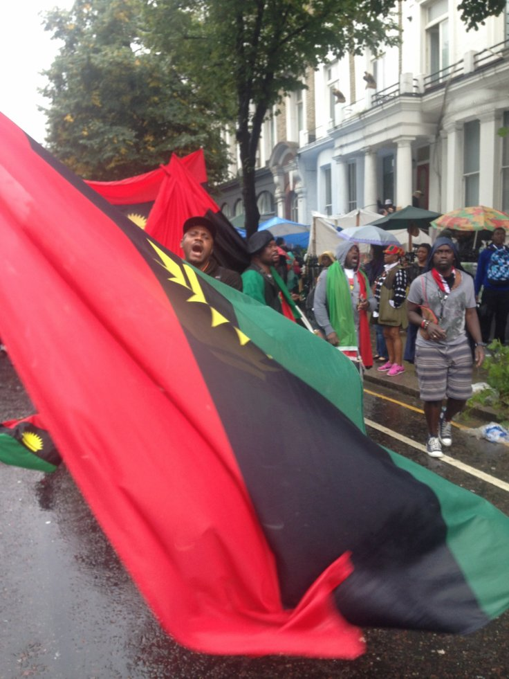 Pro-Biafra protest in London