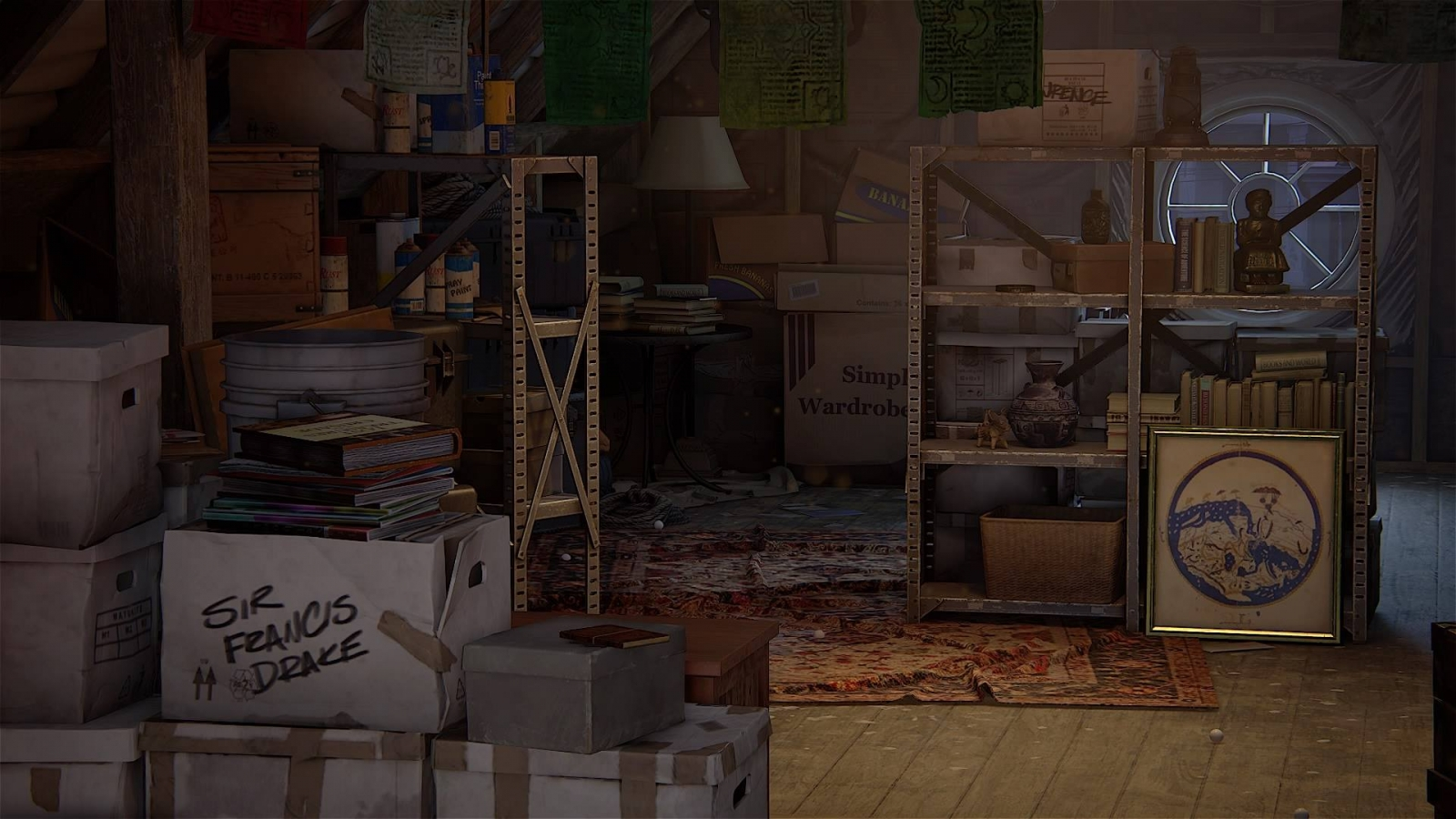 Uncharted 4 Drakes House Attic