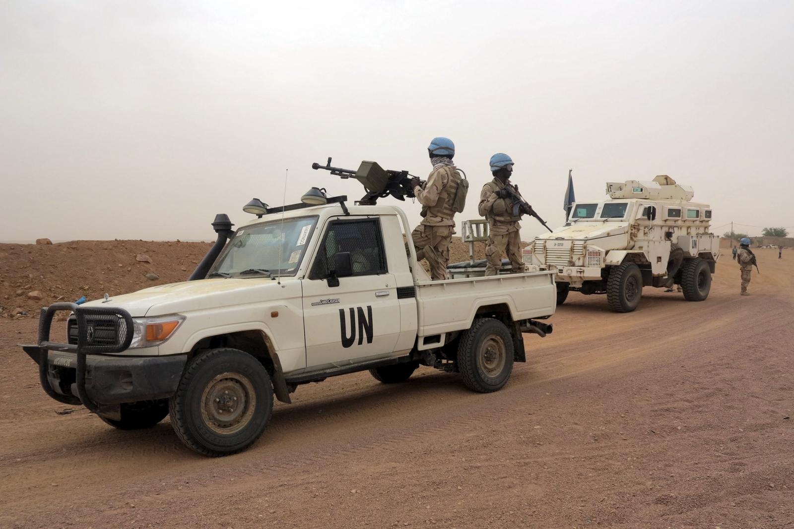 UN peacekeepers patrol in Kidal