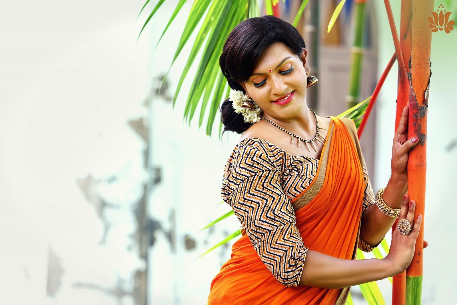 a6499e6e0f Indian fashion designer celebrates transgender models in new sari campaign