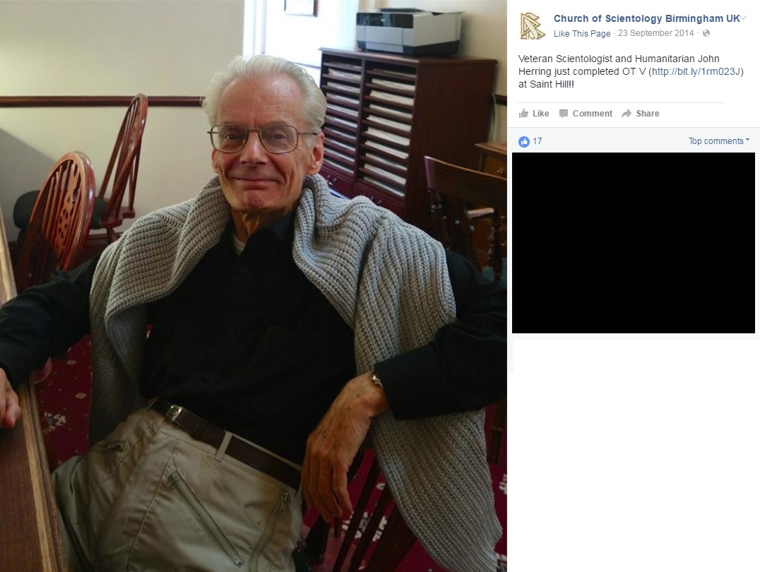 John Herring Scientology Facebook page