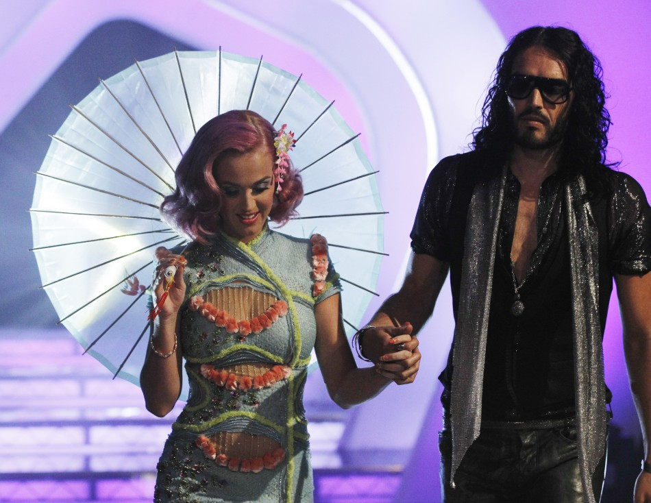 Singer Katy Perry and husband, actor Russell Brand