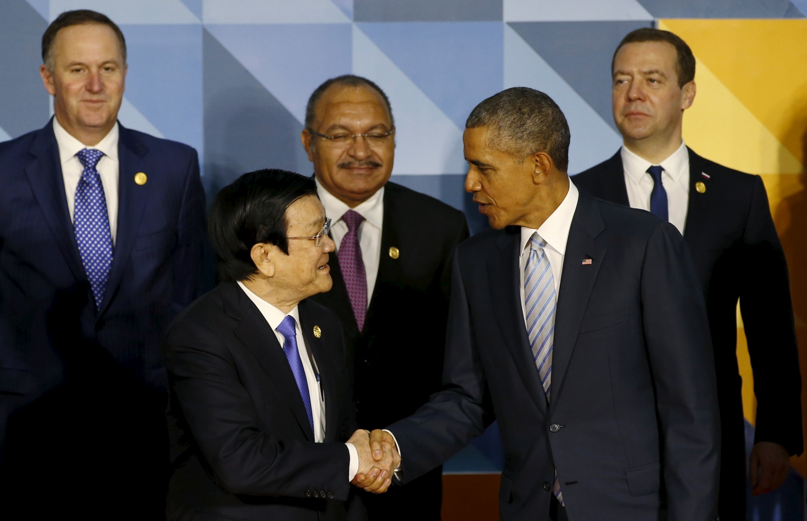 Obama with Vietnam President Truong Tan Sang