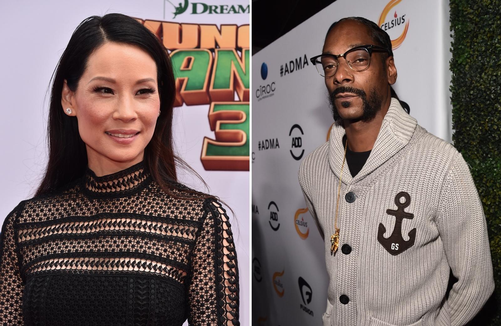 Lucy Liu and Snoop Dogg