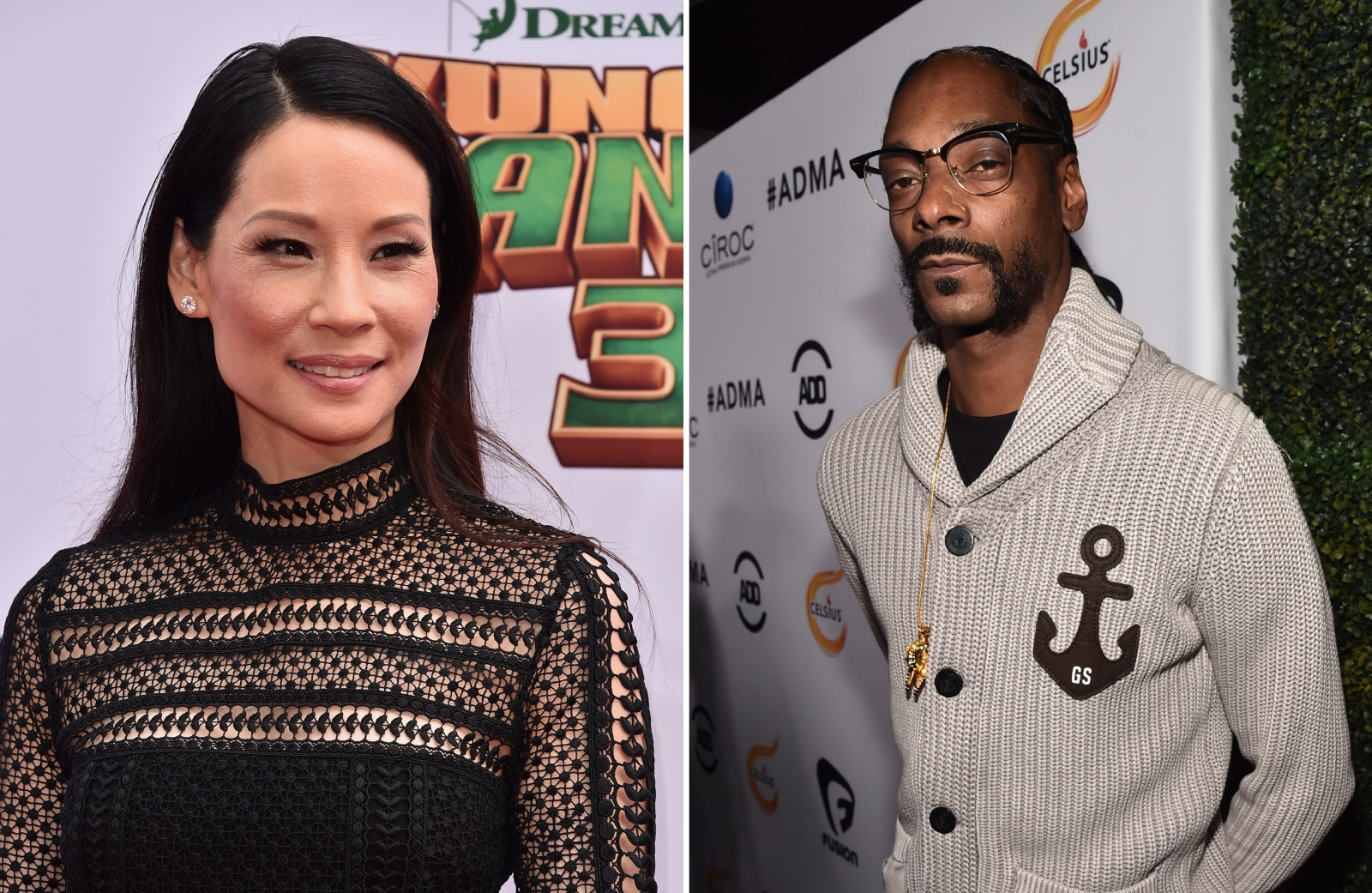 Lucy Liu and Snoop Dogg