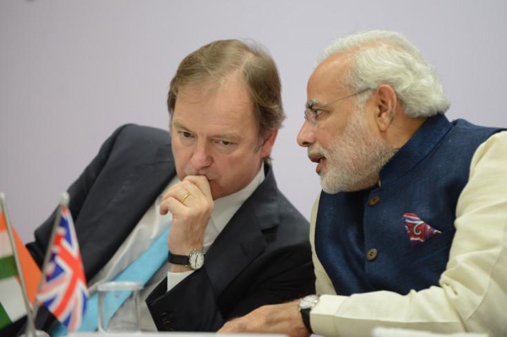 Hugo Swire and Narendra Modi