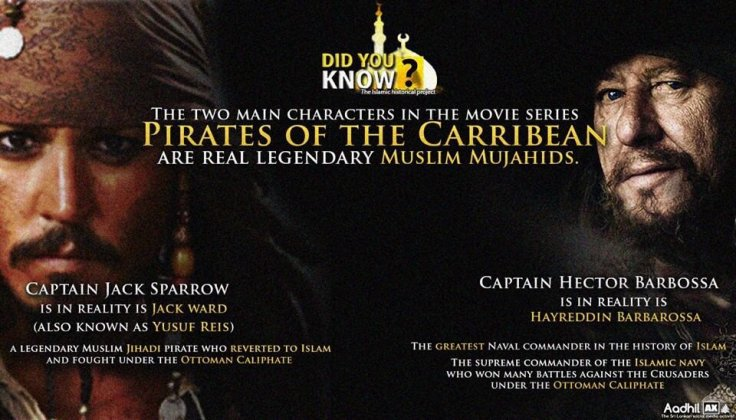 Jack Sparrow and Captain Barbossa
