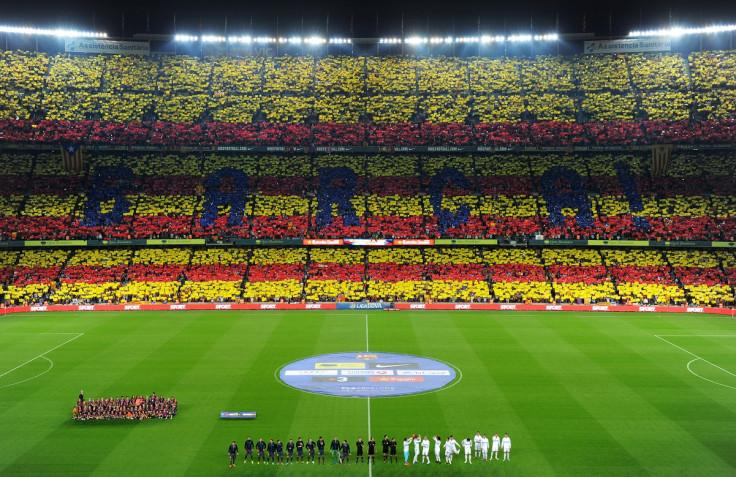 Barcelona fans at the Nou Camp