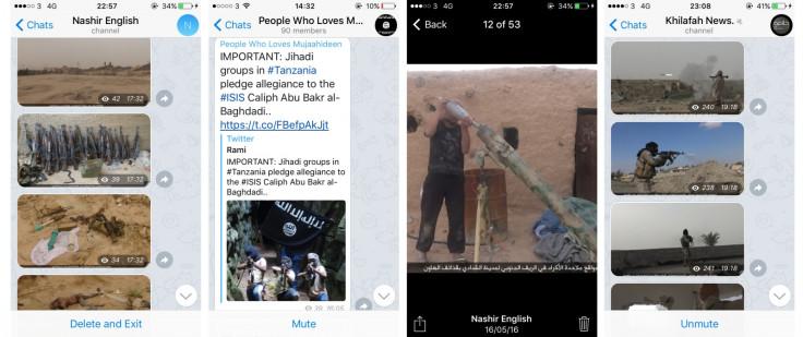 ISIS News channels Telegram
