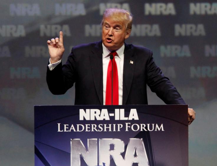 Donald Trump at NRA forum