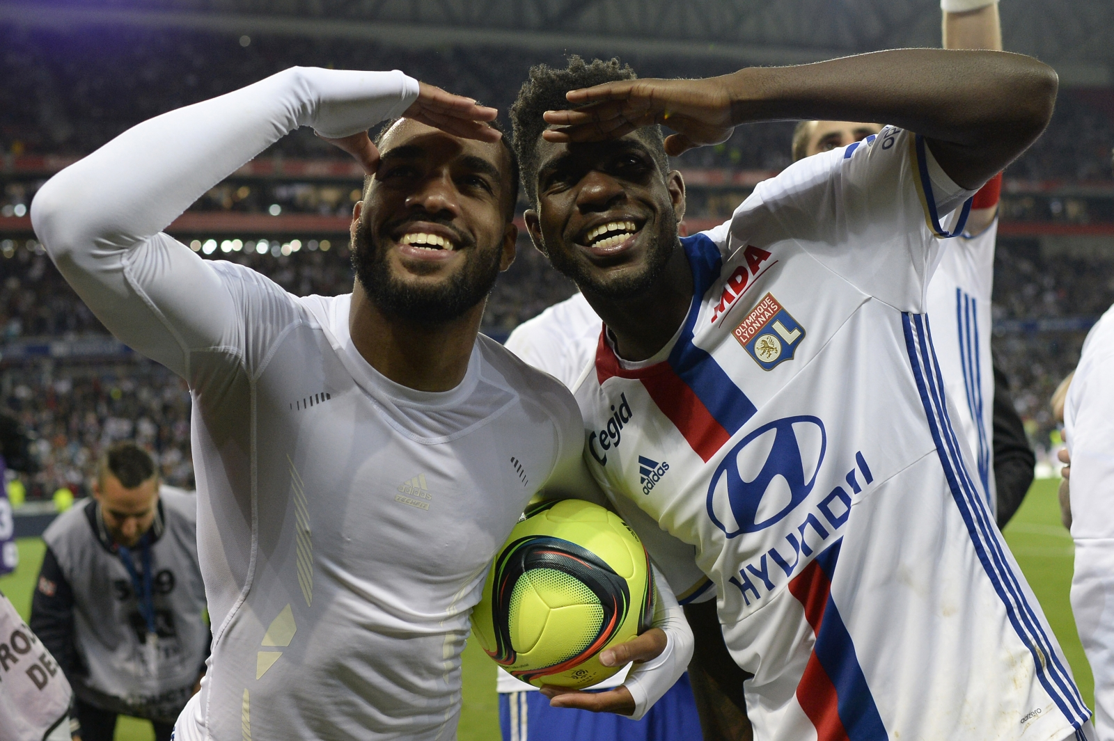 Alexandre Lacazette and Samuel Umtiti