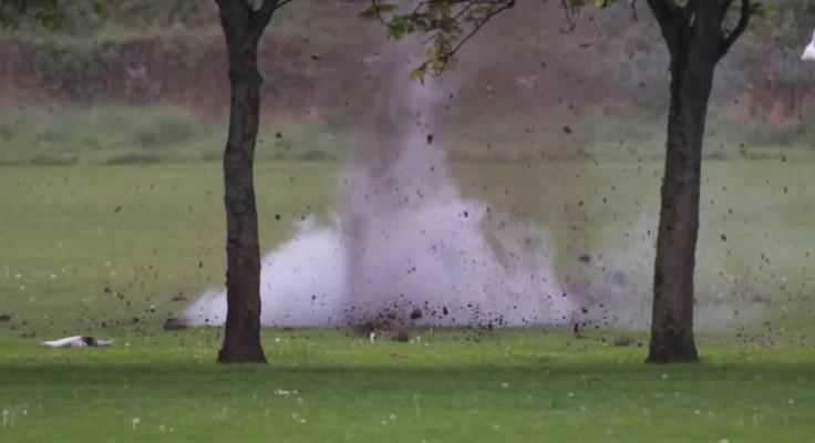 Explosion WW1 bomb