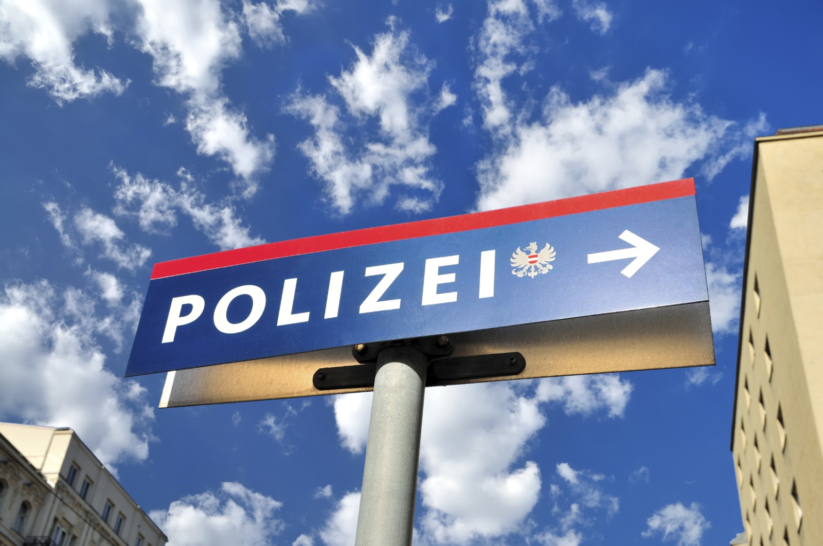 Austria police polizei sign