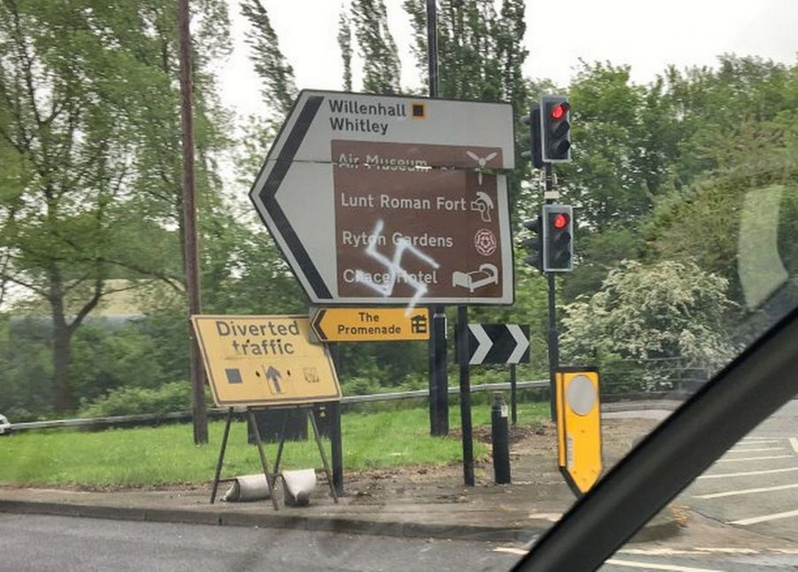 Swastika graffiti in Coventry