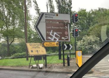 Swastika graffiti in Coventry