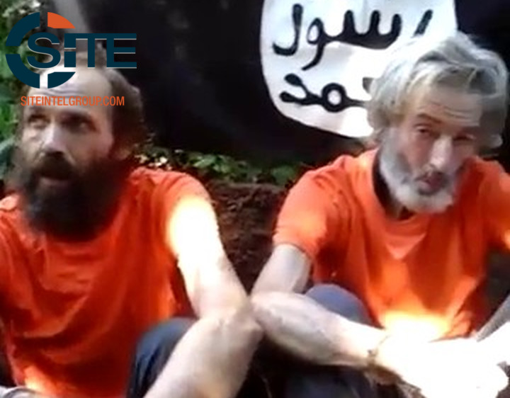 Norwegian and Canadian hostages Kjartan Sekkingstad and Robert Hall