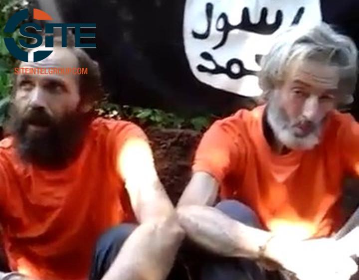 Norwegian and Canadian hostages Kjartan Sekkingstad and Robert Hall