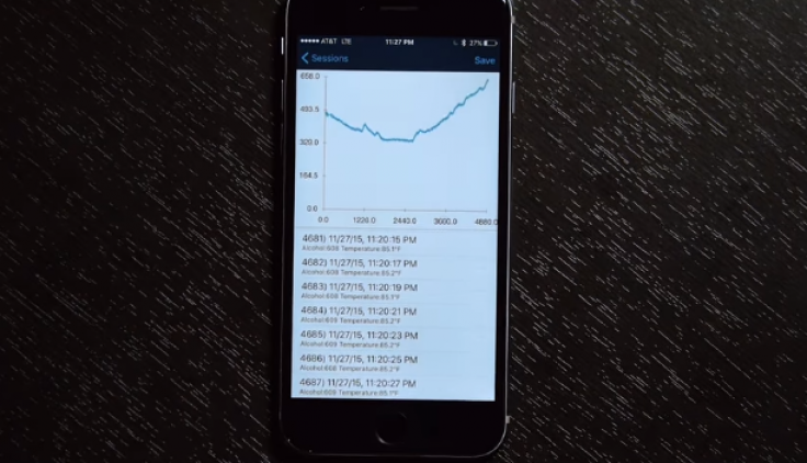 BACTrack blood alcohol tracking app