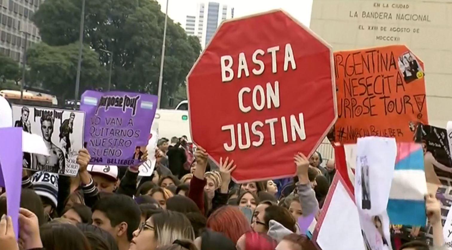Justin Bieber protest