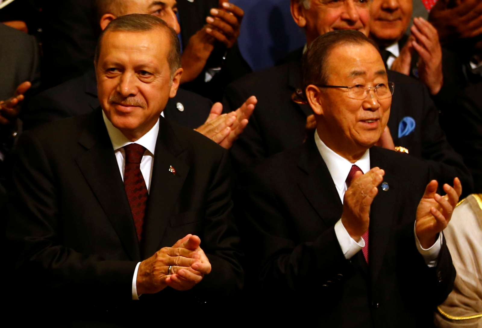 Turkish President Tayyip Erdogan and U.N. Secretary-General Ban Ki-moon