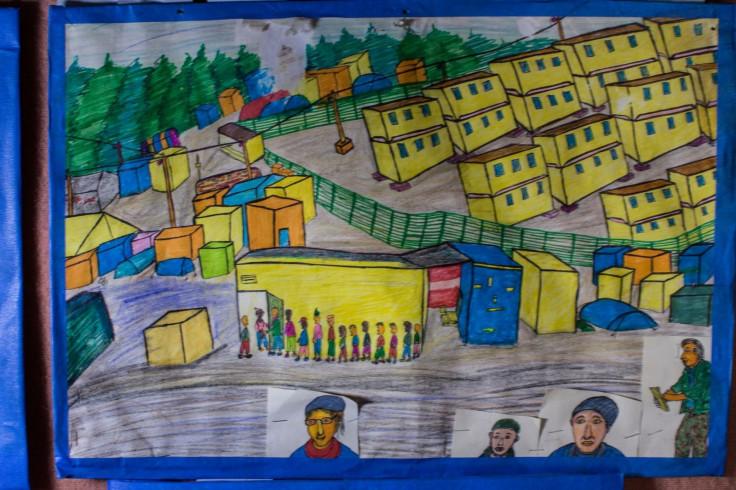 Calais camp artist