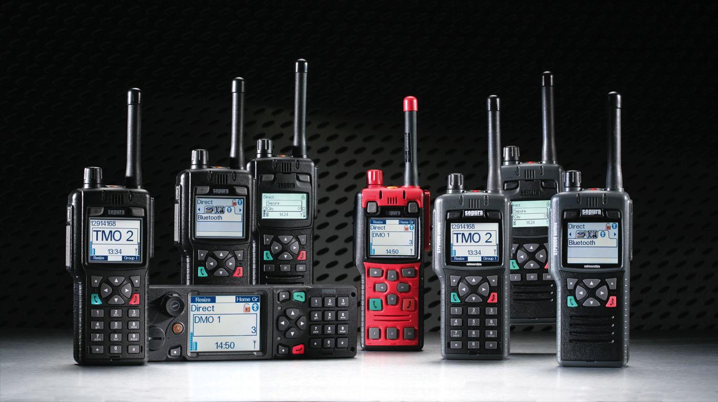 Tetra police radios