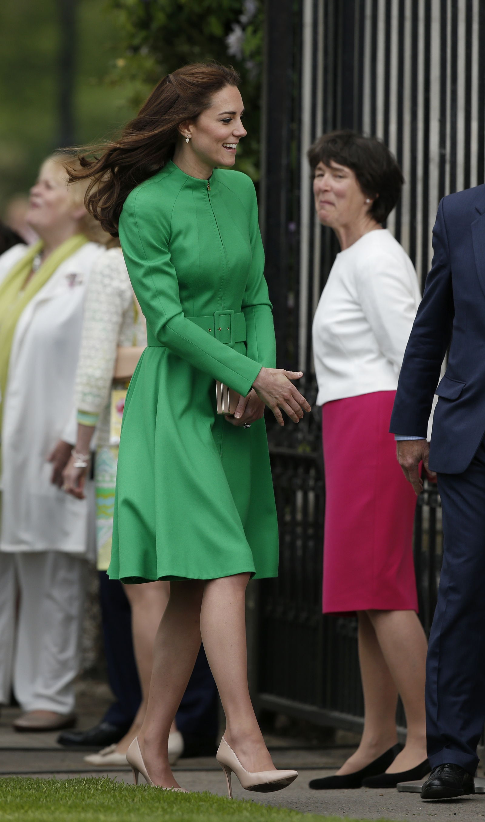 The Duchess of Cambridge wore a Catherine Walker coat dress