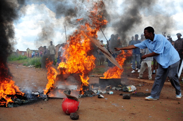 Protest against South Africa's Red Ants