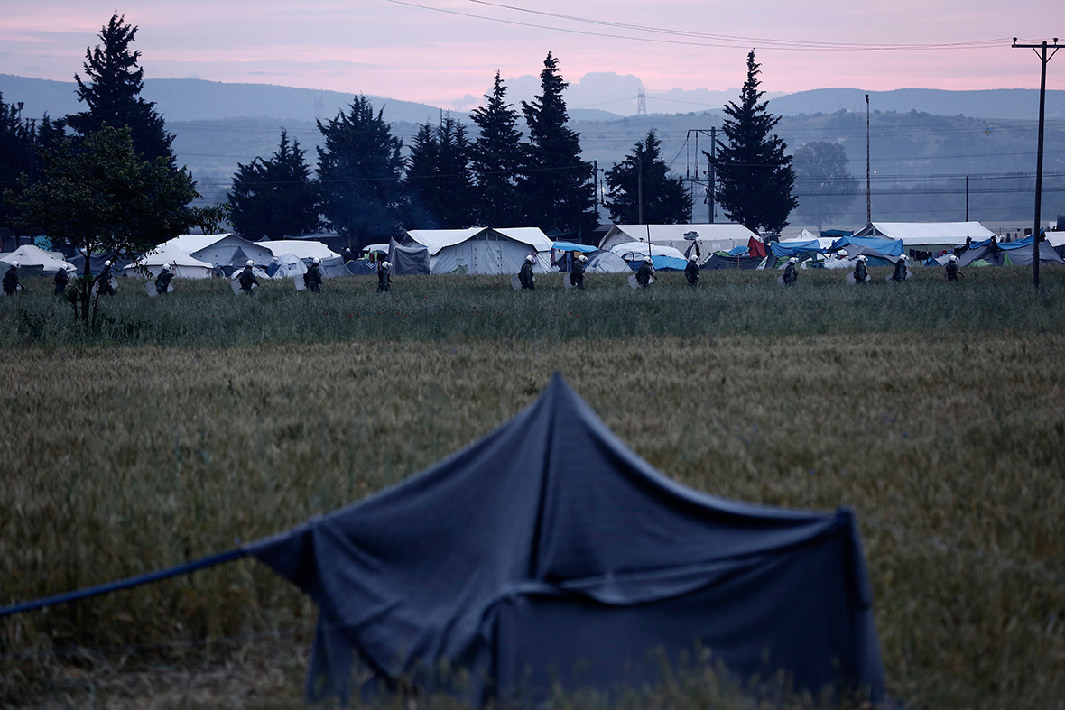 Idomeni camp clearing