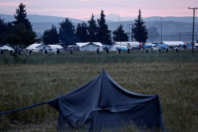 Idomeni camp clearing